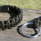 8 Inch Olive Drab Paracord Bracelet & Key Chain