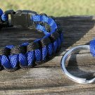 8 Inch Police Paracord Bracelet & Key Chain