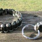 8 Inch ACU & OD Paracord Bracelet & Key Chain