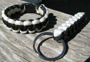 7 Inch POW/MIA Paracord Bracelet & Key Chain