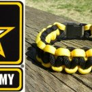 7 Inch Black & Yellow (US Army) Paracord Bracelet