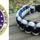 7 Inch Silver & Blue (USAF) Paracord Bracelet