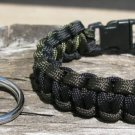 9 Inch Black & OD Paracord Bracelet & Key Chain