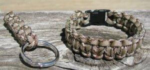 9 Inch Desert Camo Paracord Bracelet & Key Chain