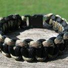 7 Inch Black & Multi Camo Paracord Bracelet