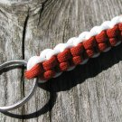 Orange & White Paracord Key Chain