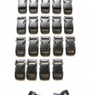 "20 3/8"" Black Side Release Buckles"