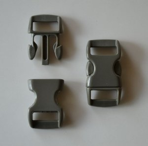 "10 3/8"" Gray Brown Side Release Buckles"