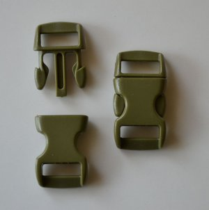 "50 3/8"" Olive Drab Side Release Buckles"