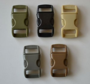 """25 3/8"""" Military Color Combo Side Release Buckles (5 Each)"""