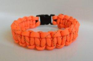 7 Inch Orange Reflective Paracord Bracelet