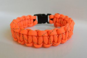 9 Inch Orange Reflective Paracord Bracelet