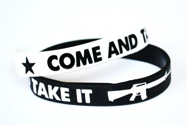 Come And Take It Silicone Black Bracelet