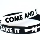 Come And Take It Silicone White Bracelet