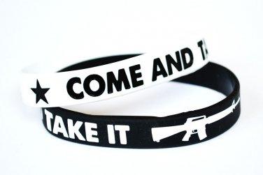 Come And Take It Silicone White Bracelet