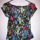 Express sheer floral top - S