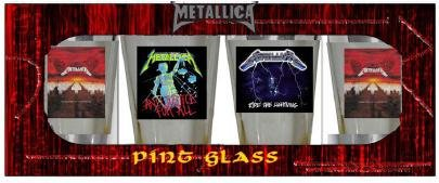 Metallica Logo Pub Glasses