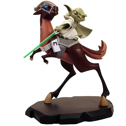 Star Wars Clone Wars Yoda on Kybuck Maquette