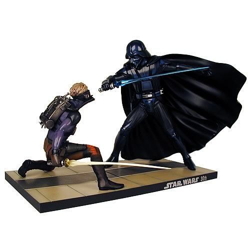 Star Wars McQuarrie Darth Vader vs. Luke Skywalker Statue