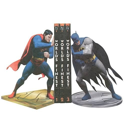 DC Superman Batman Worlds Finest Bookends
