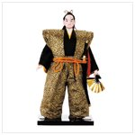SAMURAI DOLL ON WOOD BASE
