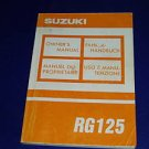 Suzuki 125 RG owners manual