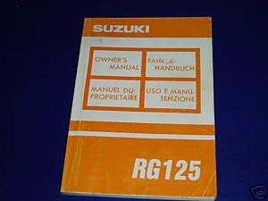 Suzuki 125 RG owners manual