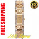 Bulova 97T89 Ladies Gold Tone Dress Watch with Crystals