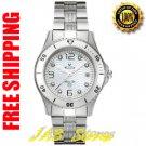 Bulova 98P004 Ladies Marine Star Diamonds White Dial