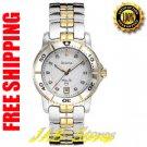 Bulova 98P006 Ladies Marine Star Two Tone Diamonds White Dial