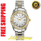 Bulova 98R109 Ladies Two Tone Stainless Steel Mother of Pearl Dial