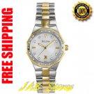 Bulova 98R110 Ladies Two Tone Diamond Bracelet Silver Dial Dress Watch