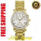 Bulova 98R97 Ladies Gold Tone Diamond Chronograph