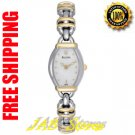 Bulova 98V19 Ladies White Mother of Pearl Dial Two Tone