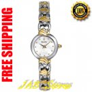 Bulova 98V30 Ladies White Mother of Pearl Dial Two Tone