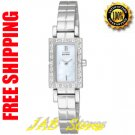 Citizen EG2580-58D Ladies Stainless Steel Eco-Drive Silhouette with Diamonds Mother of Pearl Dial