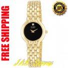 Citizen EN0012-54G Ladies Bracelet Gold tone Black Dial