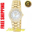 Citizen EP5832-51D Ladies Gold Tone Stainless Steel Serano Eco-Drive w/Diamonds & Mother of Pearl