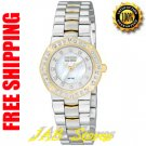 Citizen EP5834-55D Ladies Two Tone Stainless Steel Serano Eco-Drive w/Diamonds & Mother of