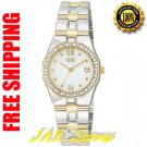 Citizen EW0484-59A Ladies Diamond Riva White Dial