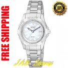 Citizen EW1370-52D Ladies Stainless Steel Aviara Eco-Drive with Diamonds Mother Of Pearl Dial