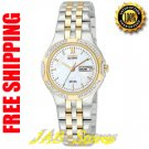 Citizen EW3114-51D Ladies Two Tone Corso Eco-drive with Diamonds Mother of Pearl Dial
