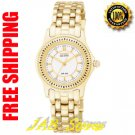 Citizen EW5302-51A Ladies Eco-Drive Gold Tone Riega White Dial
