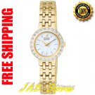 Citizen EW9572-54D Ladies Gold Tone Eco-Drive Silhouette Mother of Pearl Dial with Diamonds