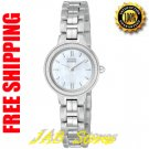 Citizen EW9590-52D Ladies Stainless Steel Eco-Drive Silhouette Mother of Pearl Dial