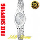 Citizen EW9680-51A Ladies Stainless Steel Eco-Drive Silhouette Gray Dial