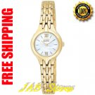 Citizen EW9692-52D Ladies Gold Tone Stainless Steel Eco-Drive Silhouette Mother of Pearl Dial