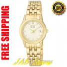 Citizen GA1002-53P Ladies Stainless Steel Gold Tone Dress Watch Champagne Dial