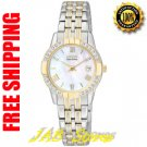 Citizen GA1014-54D Ladies Stainless Steel Two Tone Dress Watch Mother of Pearl Dial