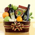 California Sunshine Wine and Fruit Gift:Gourmet Wine Gift Basket